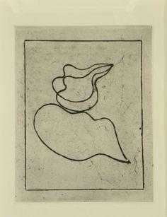 Original etching Jean Arp, Gravures original Jean Arp, Original Radierung Jean Arp,   title: vers le Blanc infini Nr. 411,  technology: etching