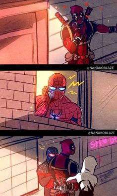 ˗ˏˋ Spideypool: Into The Spiderverse ˎˊ˗ Marvel Jokes, Marvel Avengers, Deadpool X Spiderman, Funny Marvel Memes, Spiderman Art, Dc Memes, Marvel Art, Marvel Dc Comics, Marvel Heroes