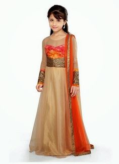 Buy Gold Net K and U anarkali suit online from the wide collection of girls-salwar-kameez. Gold colored girls-salwar-kameez goes well with any occasion. Shop online Designer girls-salwar-kameez from cbazaar at the lowest price. Prom Dresses For Teens, Little Girl Outfits, Little Girl Dresses, Cute Dresses, Beautiful Dresses, Girls Dresses, Kid Outfits, Baby Dresses, Pakistani Dresses