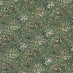 """Amazon.com: 54"""" Wide H141 Green, Burgundy And Blue, Garden Floral Tapestry Upholstery Fabric By The Yard"""