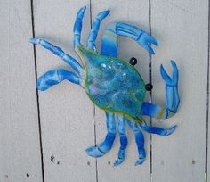 ...metal blue crab art. Cancer the Crab.