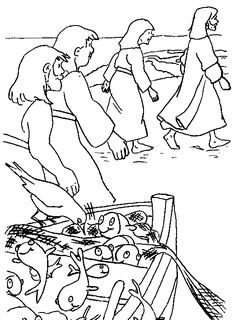 """jesus calls me Coloring Pages   Peter,I want you to follow me and be my disciple,"""" said Jesus,""""and ..."""