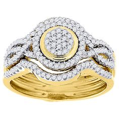 10K Yellow Gold Round Cut Diamond Engagement Infinity 3 Piece Bridal Set 1/3 Cttw Jewelry For Less ATL http://www.amazon.com/dp/B00NPA4MRE/ref=cm_sw_r_pi_dp_JPDZwb1T4CQMT