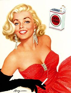 Gorgeous Baz Lucky Strike cigarettes poster