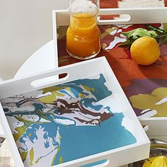 Modern trays for outdoor entertaining