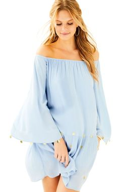 d72e1b5b8344bd Our Delaney Tunic Dress has flowy sleeves, embroidery and gypsy coins. This  off the shoulder swing tunic dress gives you an effortless chic look that  is ...