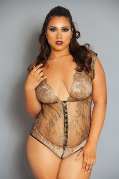 Plus size lingerie - The Diva Bodysuit @ intimatesplus.com