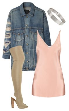 """Untilted #37"" by clynnstyle on Polyvore featuring R13, Raey, YEEZY Season 2 and Lele Sadoughi"