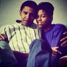 Barack and Michelle.  Young law.