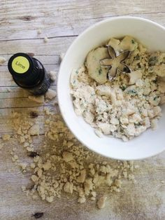 Lime Essential Oil Moon Dough is easy to make and fun for kids!