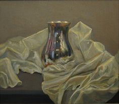 Petra Reece Still Life with Silver Vase - 2014 Oil on linen 38 x 43 cm New Words, Petra, Still Life, Oil On Canvas, Vase, Artist, Silver, Painting, Painting Art