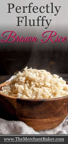 No more mushy, wet or sticky brown rice. This is the easy, fool proof secret to cooking perfect brown rice. Basmati Rice Recipes, Easy Rice Recipes, New Recipes, Cooking Recipes, Favorite Recipes, Healthy Recipes, Recipes With Brown Rice, Healthy Brown Rice Recipes, Cooking Ribs