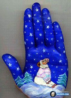 Hand painting by Svetlana Kolosova