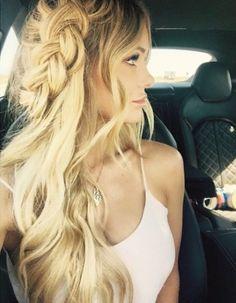warkocz włosy długie