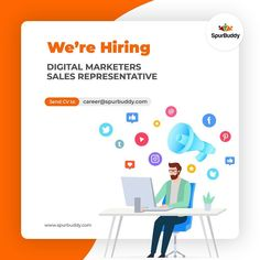 We're Hiring ! Submit CV to career@spurbuddy.com #Nigeria #Lagos #Tech #Creative #StoryTellers #digitalmarketing #creatives #Ad #Agency #sales Help Wanted Ads, Sales Representative, Digital Marketing, Career, Management, Tech, Illustrations, Learning, Amazing