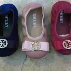 Baby Tory Burch Flats. It's because of things like this that I will have to make tons of money. My nieces need things. Pretty things.