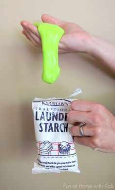 UK England Slime Recipe using Kershaw's Laundry Starch from Fun at Home with Kids