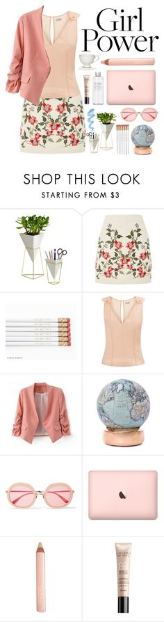 """""""Girl Power"""" by essentiallyessence ❤ liked on Polyvore featuring Umbra, Topshop, La Perla, Bellerby & Co, Sunday Somewhere, Muji, Trish McEvoy and Guerlain"""