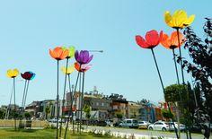gelincik lamba lale lamba park lambası çiçek aydınlatma