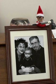 Elf onthe shelf @Jess Pearl Packman there are so many cool ideas!
