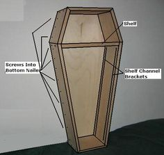 Free Coffin Plans - How to Build A Coffin - How to Build A Halloween Coffin Prop