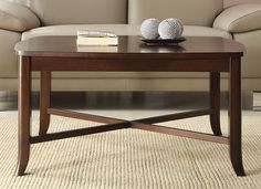 ON SALE Inspired by Bassett Bella Truffle Finish Wood Coffee Cocktail Table