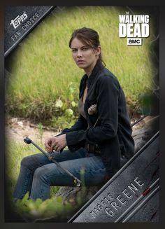 Maggie Greene Fan's Choice (Week 5) Insert Card The Walking Dead 2016 Topps