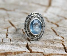 Vintage Silver Marcasite and Oval Blue by Gener8tionsCre8tions, $95.00