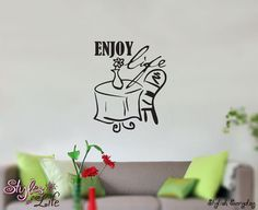 This would be great for living room, kitchen, or bedroom placement. Decorate your walls with our gorgeous wall decals. The vinyl has a nice matte