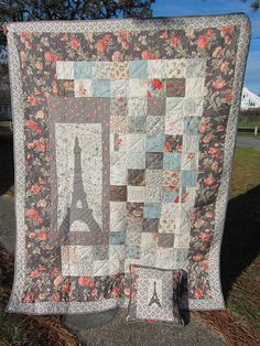 K. Eiffel Tower Quilt I made for my Nana by OnTheWander, via Flickr