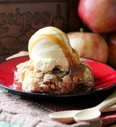 Apple Pie Dump Cake. A simple variation on a classic dump cake. Made with Apple Pie Filling, cake mix and butter!