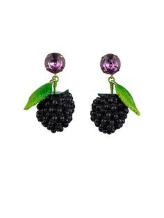 #n2-by-lesnereides #paris #spring-summer-14 #jewelry #french-designer #handmade #unique #earrings #fruits #blackberries #yummy #summer #funny-fruits #Shop on #www.lesnereides-usa.com
