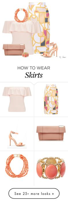 """This Skirt!"" by ksims-1 on Polyvore featuring Raoul, Miss Selfridge, Victoria Beckham and Kenneth Jay Lane"