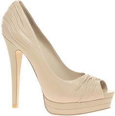 """I found these past season Aldo Bambas for a s-t-e-a-l on ebay!  They are lovely, all leather including the soles.  Perfect neutral color and yikes a 5"""" heel!  I can't wait to wear them!"""