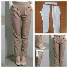 Basic straight pants pattern by Jasa Pembuatan Pola