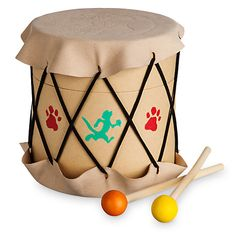 Create, paint, and drum up some fun with The Lion King Circle of Life Drum Craft Set by Seedling featuring Simba, Timon, and Pumbaa. Drums For Kids, Drum Lessons For Kids, Lion King Crafts, Drums Artwork, Drum Craft, Crafts For Kids, Arts And Crafts, Vintage Drums, Homemade 3d Printer
