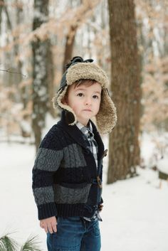 Winter Portraits of Adorable Little Boy by Leah Fruth | Two Bright Lights :: Blog