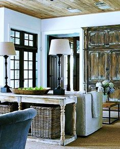 Fun living room style and decor ideas - Searching for living room design ideas? Search through ideas of living room styles and colors to create your perfect home. Click the link for more. Cottage Living, Home Living Room, Living Room Decor, Living Area, Cozy Cottage, Decor Room, Cozy Living, Living Spaces, Wall Decor