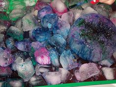 Ice & Colored Rock Salt Science Activity