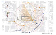 Yin Yang House in Venice, California by Brooks + Scarpa Architects - ArchShowcase Site Analysis Architecture, Architecture Site Plan, Architecture Panel, Sustainable Architecture, Concept Architecture, Sustainable Design, Drawing Architecture, Architecture Portfolio, Sun Path Diagram