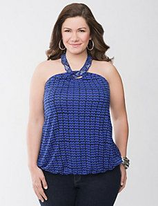 Zig zag halter top by Lane Bryant