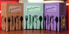 Porina pasta packaging.  Only novices use spoons though: )