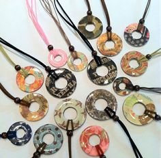 Washer necklaces. What a great project for a 4-H, Girl Scout, or youth group.