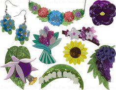 Little Miss Quirky - Erstwilder Rose Gold Jewelry, Resin Jewelry, Sterling Silver Jewelry, Diamond Jewelry, Kawaii Jewelry, Cute Jewelry, Jewelry Box, Little Miss, Flower Brooch