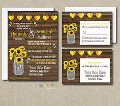 100-Personalized-Rustic-Sunflower-Wedding-Invitation-Set-with-Envelopes
