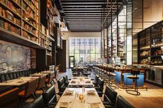 Just opened this summer, EMC2 is Chi-Town's newest addition to the hotel scene. The rooms are gorgeous, the downtown location is in the middle of everything and the brilliant bar and restaurant – dubbed Albert, as in Einstein – makes an amalgamation of art, science and food. | Photo Credit: Hotel EMC2