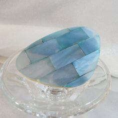 Vintage Blue Mother of Pearl Brooch. Lucite. Pale Blue. by waalaa, $24.99