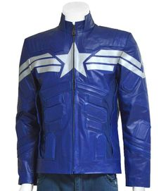 b32c2a20342 LJ Showroom brings to you the finely stitched Blue Soldier Leather Jacket  with all the Captain