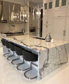Home Room Design, Dream Home Design, Modern House Design, Luxury Kitchen Design, Luxury Kitchens, Home Kitchens, Dream House Interior, Luxury Homes Dream Houses, Home Decor Kitchen
