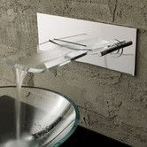Found it at Wayfair - Single Handle Wall Mount Waterfall Bathroom Sink Faucet